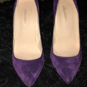 Shoes - Purple suede heels